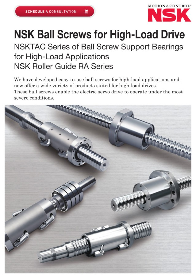 Ball Screws for High-Load Drive