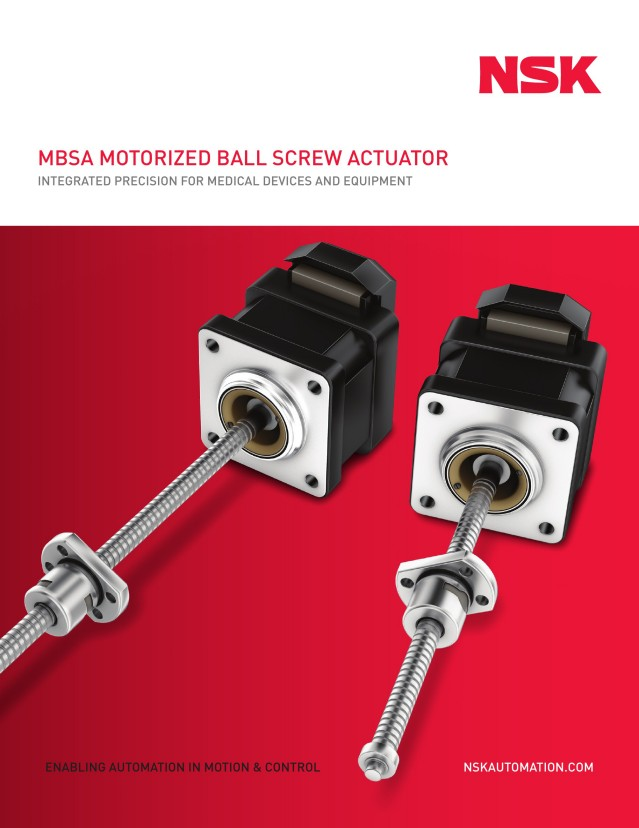 MBSA Motorized Ball Screw Actuator - Integrated Precision for Medical Devices and Equipment
